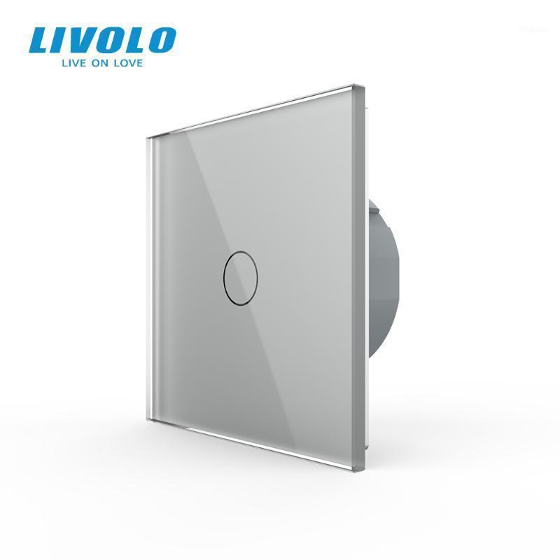 Smart Home Control Livolo Interruttore del sensore del tattile di lusso, interruttore della luce, potenza dell'interruttore, vetro di cristallo, presa di corrente, prese multifunzione, gratis