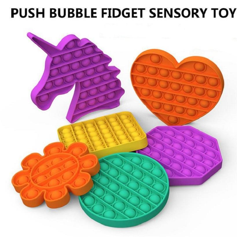 Push Pop Fidget Toy Sensory Push Pop Bubble Sensory Toy Pop It Fidget Toy Autism Special Needs Anxiety Stress Reliever for Adults HHA3321