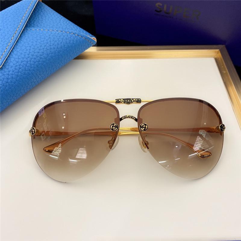 SK880 Moda Gafas de sol con protección UV para hombres y mujeres Vintage Vintage Sin marco Popular Calidad superior Ven con case Classic Sunglasses