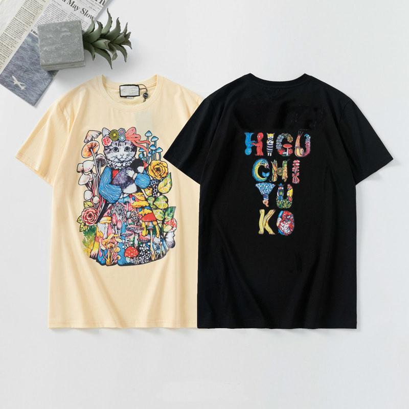 2020 Mens t-shirt de alta qualidade Homens Mulheres Casais Casual manga curta Mens em torno do pescoço T 5 cores S-2XL