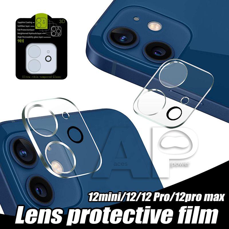 Voltar lente câmera vidro temperado para iphone 12 mini 11 pro max xr xs 7 8 mais proteção de filme protetor