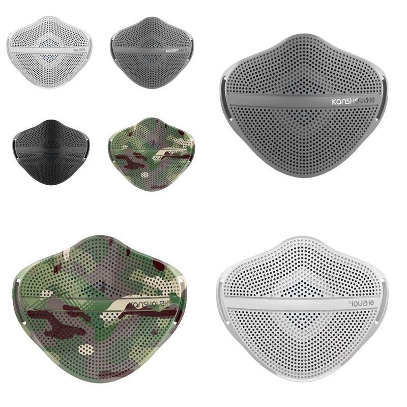 Kanshouzhe أقنعة XL قابل للغسل قابلة لإعادة الاستخدام قناع الوجه منفصل الأنف سلامة الغبار الفم التنفسي مع 5 قطع مرشحات 67 P2