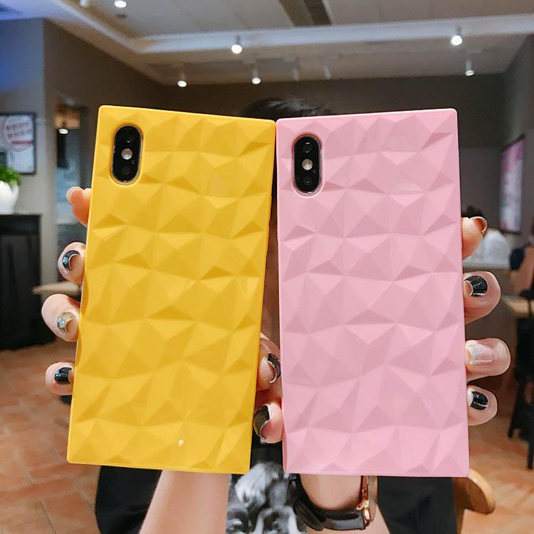 Capas telefônicas de cor quadrada fluorescente para iphone 12 11 pro max xr x xs 7 8 plus case à prova de choque macio suave tampa traseira