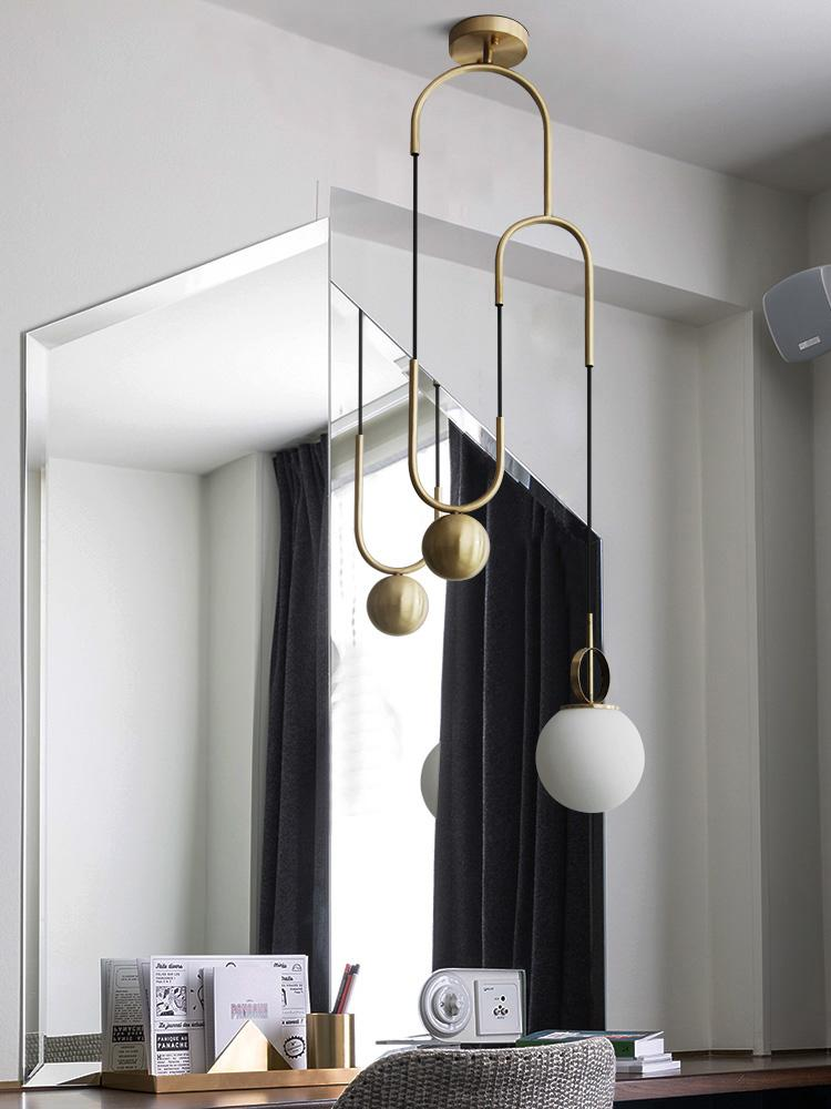 modern pendant light creative personality bar dining room golden lifting glass ball pendant lamp hanglamp lighting