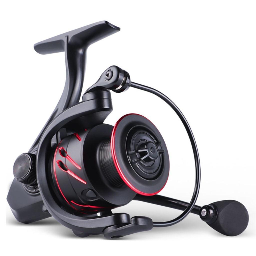 Girando bobinas de pesca com lidar com colapsible intercambiáveis esquerdo / direito Spool de metal poderoso 4,7: 1 / 5.0: 1 Relação de engrenagem para freshwater Saltwa