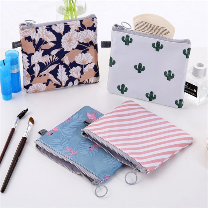 Donne Cartoon Flamingo Borsa Cosmetica Borsa da viaggio Makeup Case Zipper Make Up Bath Organizer Storage Sacchetto della toilette Wash Beaut Kit