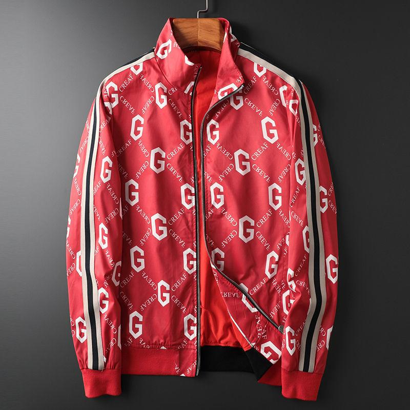 2021 Moda G Letra Marca Cortavientos Spring Zipper Hombre Chaqueta de hombre Tendencia de otoño guapo suelto casual chaqueta hombres Ropa LJ201013