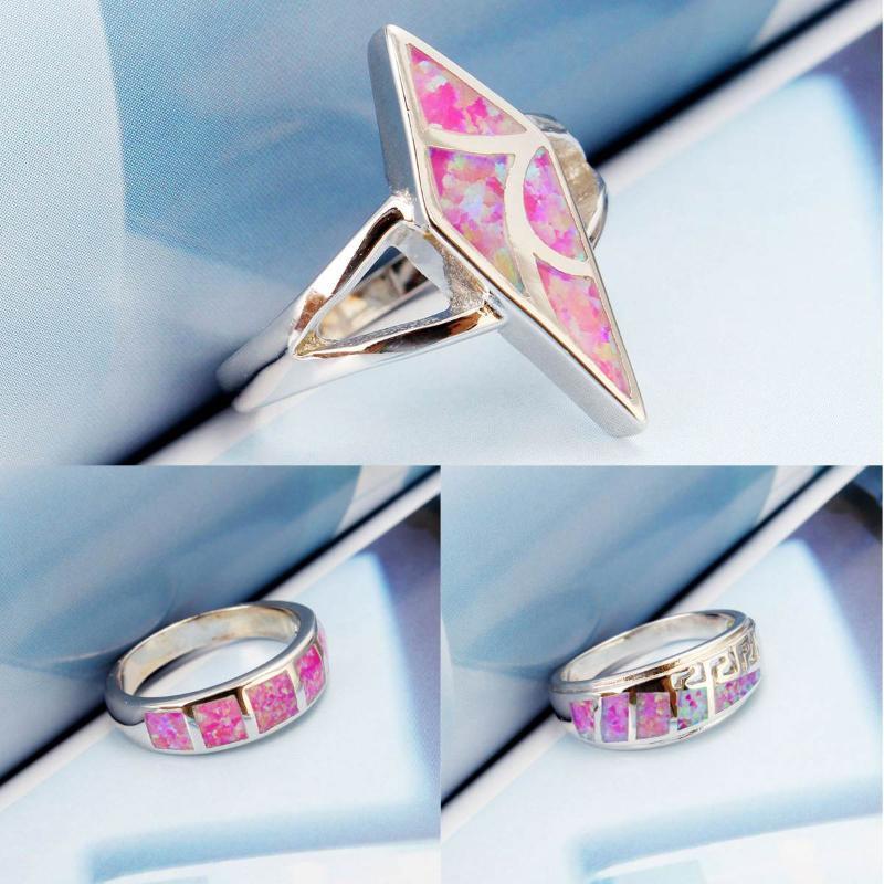 Anelli di cristallo di stile di modo di stile di modo 16-19 pollici di buona qualità Anelli di cristallo rosa per le donne Regalo di nozze dei monili di modo del anello medio delle donne