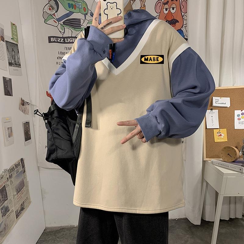 TpXI8 dos dos sueltas suéter con capucha pieza de punto de los hombres con capucha perder H8N69 pieza de hombres