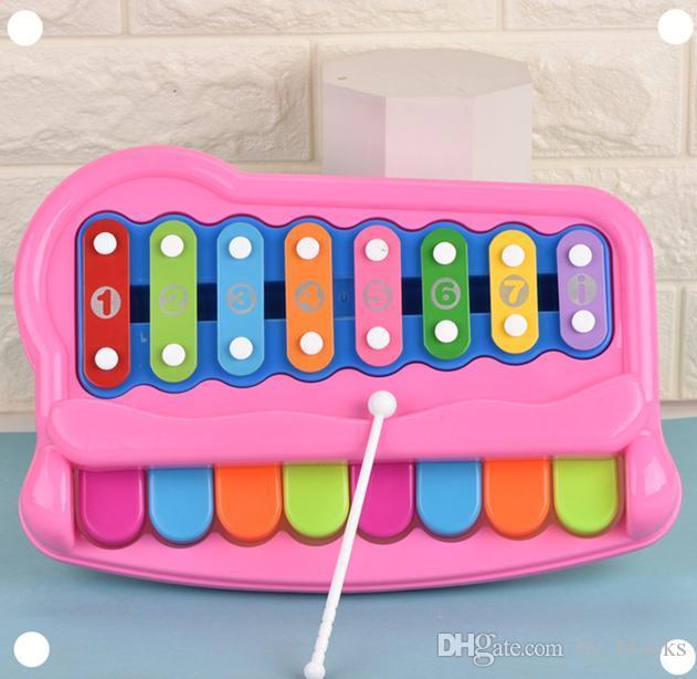 Enstrüman Xylophone Kız Çocuklar için Eğitim 16-Not Müzik Oyuncak Erken Renkli Yürüyor Piyano Erkek Bebek Hediyeleri Mobil FEPAV