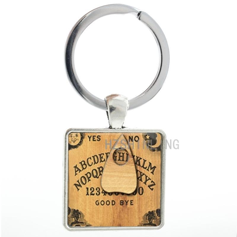 Moda Tarocchi Ouija Board portachiavi Oth Spirito Caso mondiale per la catena di Kingdom Hearts chiave di Keychain Donne uomini anello regalo Aa107