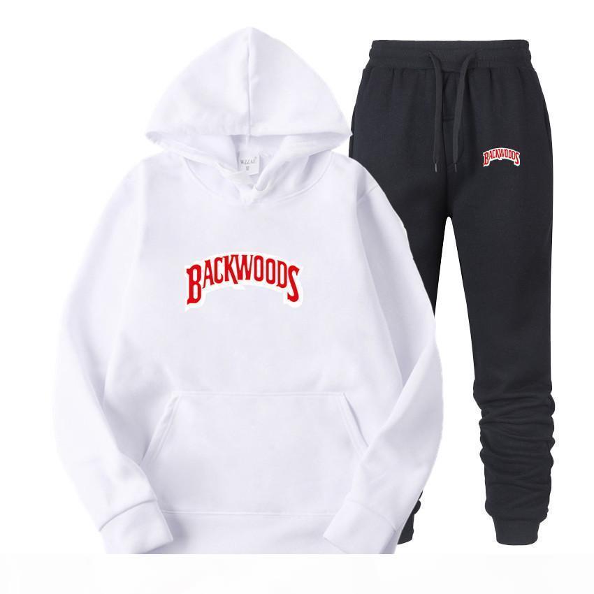 Marke Luxus Frühling und Herbst Neue Art Backwoods Gedruckt Sportswear Herren Hip-Hop Hoodie Außenhandel Pullover Anzug