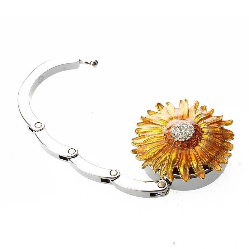 Круглый держатель столик горный хрусталь кошелек металлический вешалка цветок сумка для крючка сумка складной Qqshi