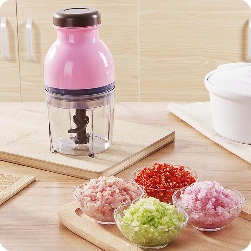 Mezclador de licuadora eléctrico portátil Pink Electric Juicer Blender Baby Baby Food Mixer Carne Grinder Juice Maker Baby Baby Procesador