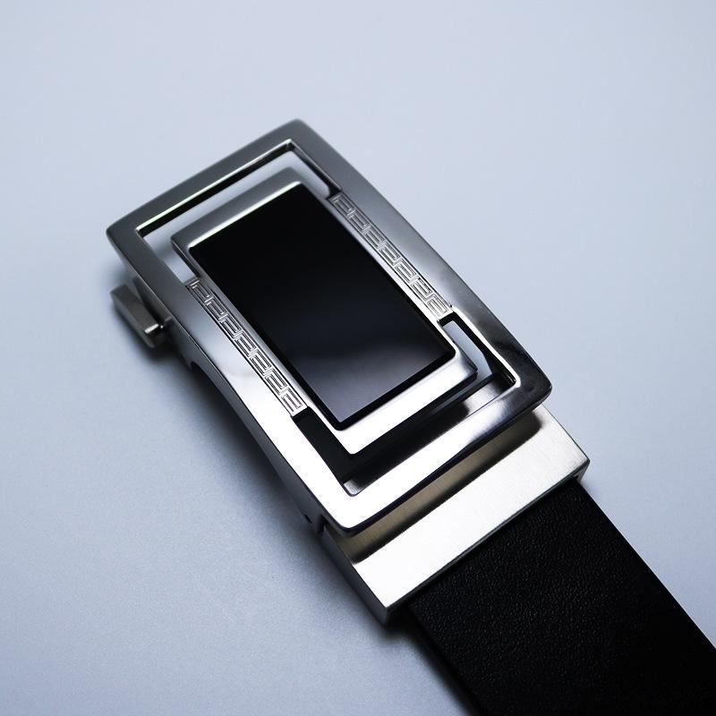 AFOGd pur bouton Agate acrylique mode homme acier pur acier automaticstainless mode ceinture de automaticstainless agate acrylique pour hommes