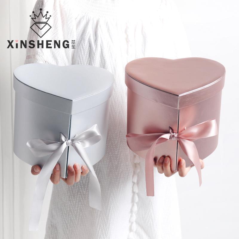 Афина в форме сердца двухслойные подарочные коробки креативные высококачественные цветочные коробки ручной упаковку цветочный магазин материал свадьба валентинка