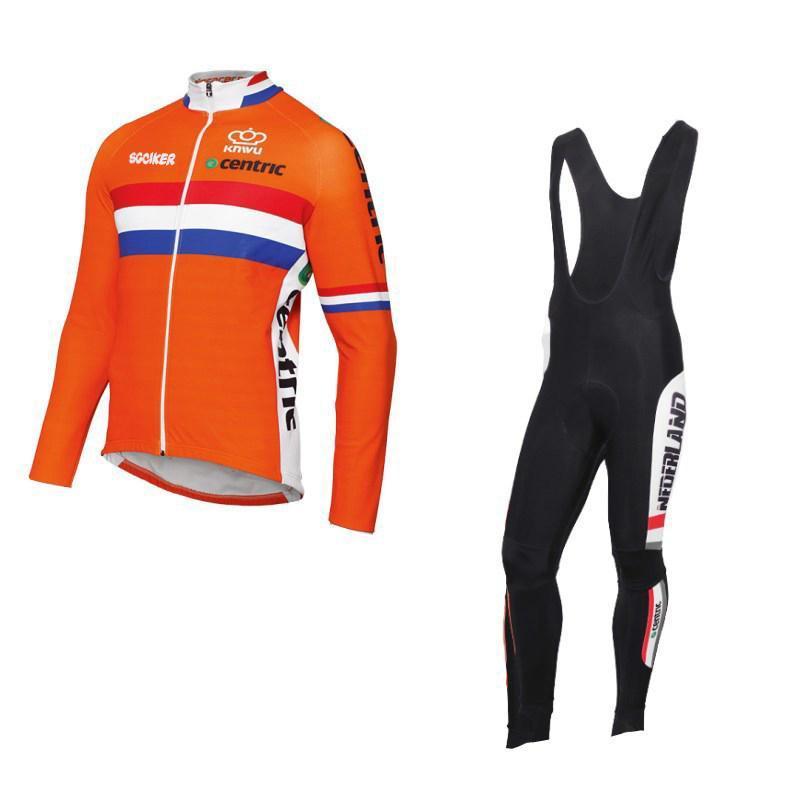 الصوف في فصل الشتاء فريق هولندا السريعة الجافة ركوب الدراجات جيرسي العلم الهولندي الملابس تنفس MTB ملابس Ciclismo دراجات مايوه GEL