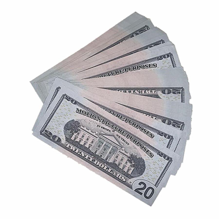 Tir de jouets cadeau Fake 100pcs / Pack Movie Shipping Magic US Enfants Monnaie Montrer l'argent Dollar Copie 9F accessoires rapides Bill AtXSi Svtnu