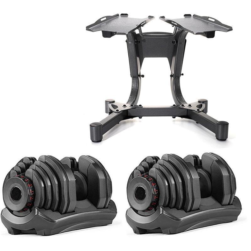 Einstellbare Hantelset Workout Gewichte 90lb / 40kg inklusive Standfuß