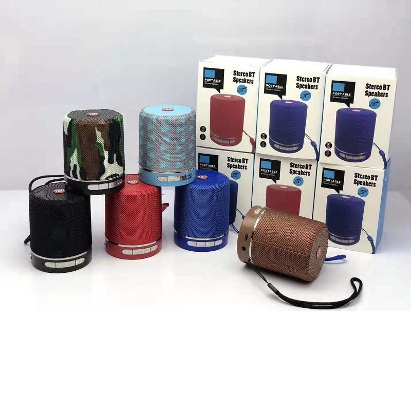 Sem Fio TG511 Bluetooth Speaker HiFi Subwoofer Mini Portátil Audio Speakers 6 Cores Ao Ar Livre SoundBar com Caixa de Varejo SF Card MP3 Player