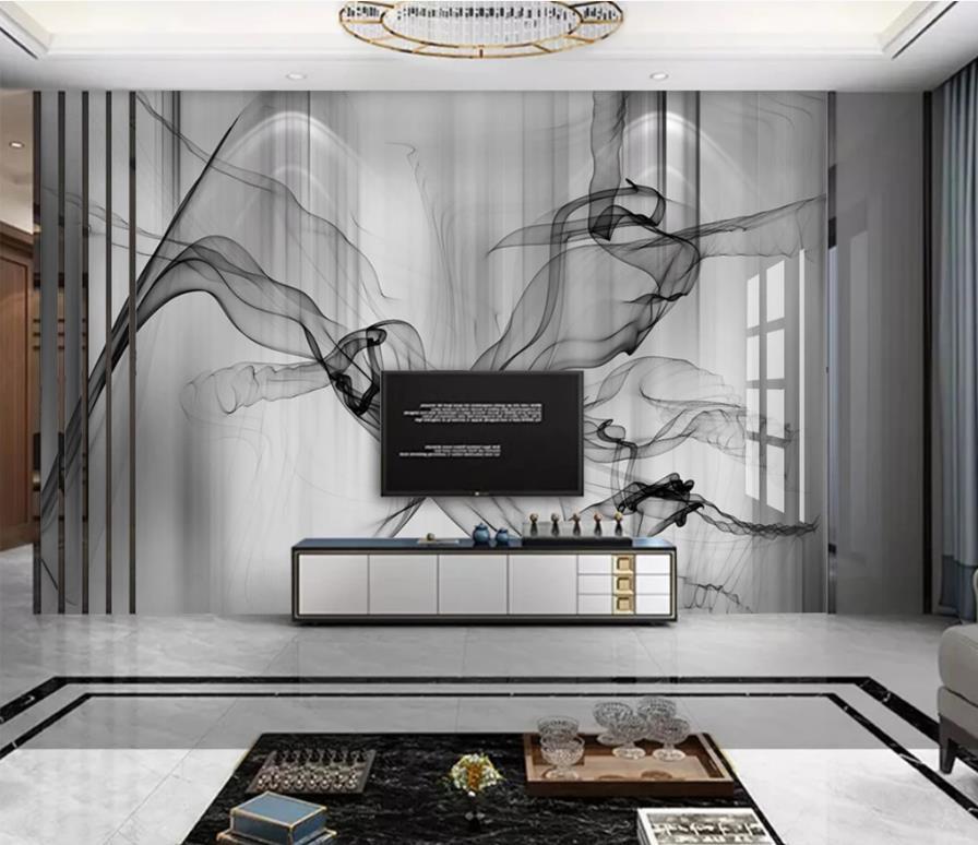 Alle Zimmer 3D Background Linie Marmor 3D Wandtapete individuelle Moderne Einfachheit Tapete für Schlafzimmer Wohnzimmer Wände