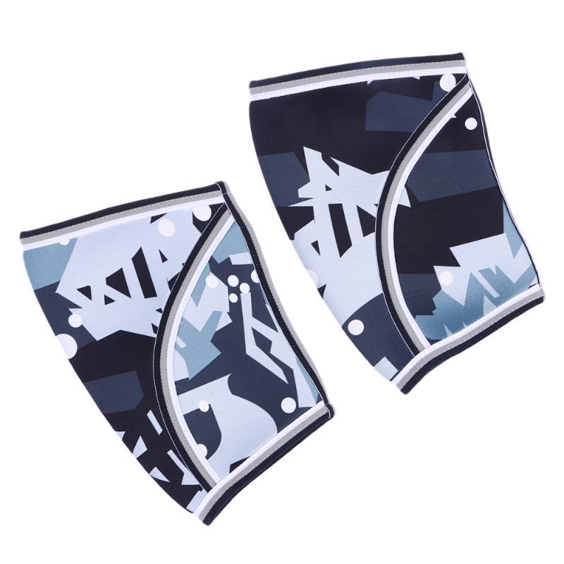 2 pcs Neoprene Esportes Joelho Almofadas Universal Weightlifting Knee Mangas Protetores de Protetores Esportivos para Homens Mulheres (Camuflagem / M)