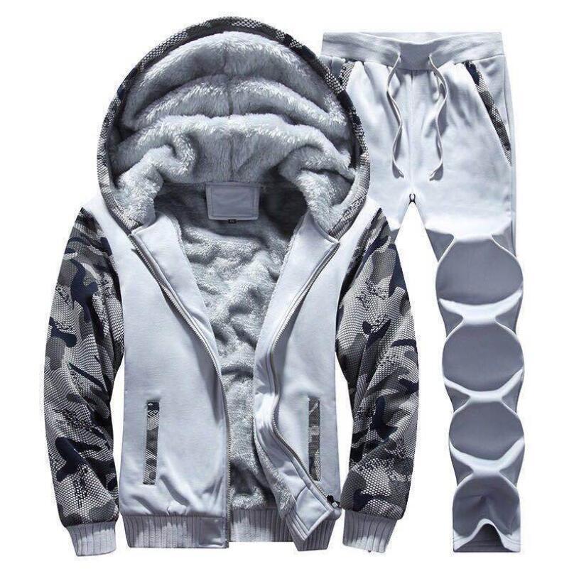 Nueva moda hombres con capucha suits suits diseñador chándal hombres mujeres Sudaderas + Sweatpants Winter Winter Cálido grueso Fleece chaquetas con capucha chaquetas