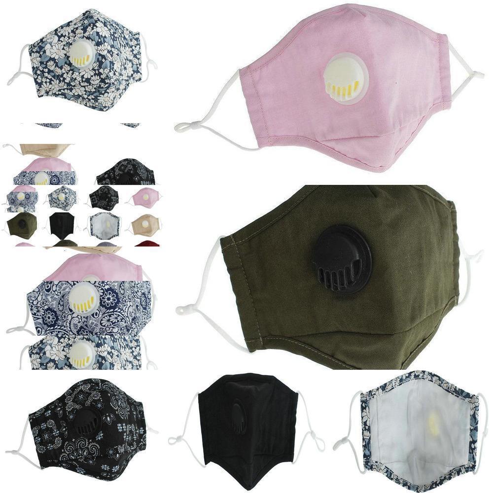 2020 Maschere maschera riutilizzabili lavabili HCMD PM2.5 Nuova valvola Valvola protettiva in cotone viso ma anti-polvere ZKG81 GUBUL