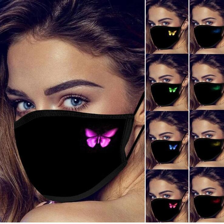 Cara diseñador de la mariposa máscara de la personalidad máscara máscaras boca cubierta de la manera a prueba de polvo reutilizable lavable de algodón máscara máscaras del partido