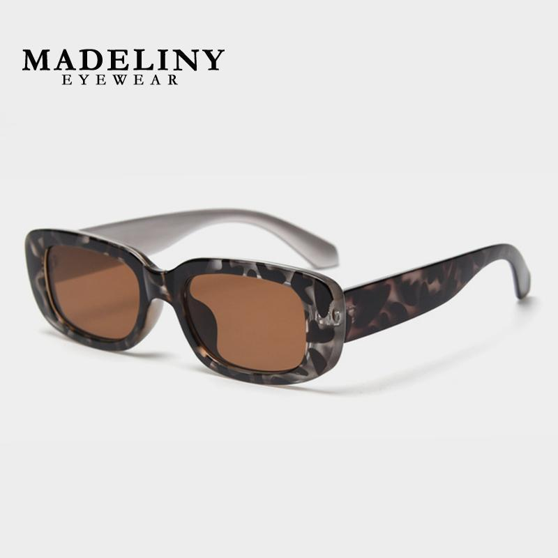 Lunettes de soleil Madeliny Brand Femmes Square Sun Luxury Sun Lunettes Dames Tendance Petite Femme Lunettes de lunette Ma256
