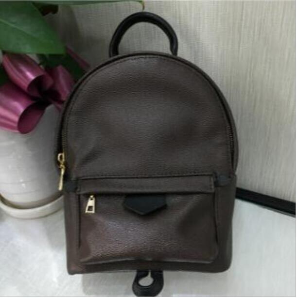 Mini Bag Donna bambini della scuola delle donne borse dell'unità di elaborazione di cuoio dei sacchetti Zaino famoso 16x8x21cm modo di Palm Spring Lady Bag borsa da viaggio