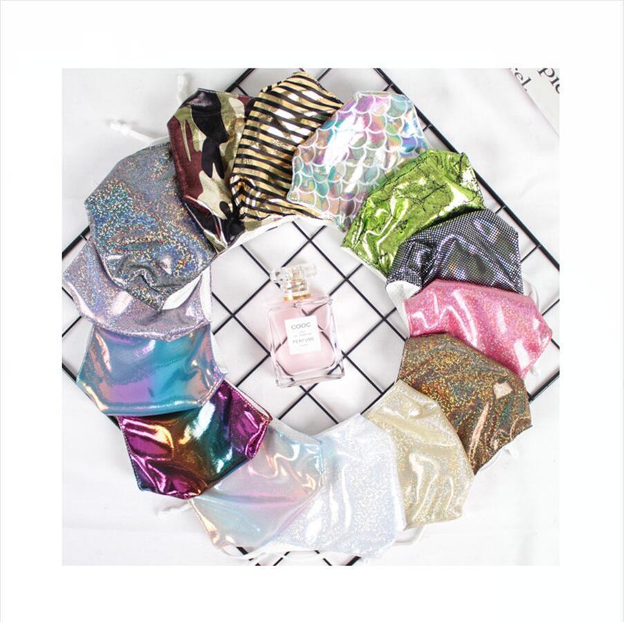 Bling Bling Pullu Yüz Maskesi Nefes Yıkanabilir Yeniden kullanılabilir Ağız Kapak Kadın Kişilik Moda Açık toz geçirmez Deniz Kargo DDA628 Maske