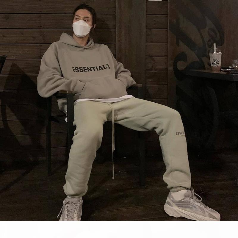 Tanrı'nın Korkusu Sweatpants Sis Essentials Ter Pantolon Erkek Rahat Uzun Fleeced Pantolon Pantolon Erkek Kadın Hip Hop Kaykay Streetwear