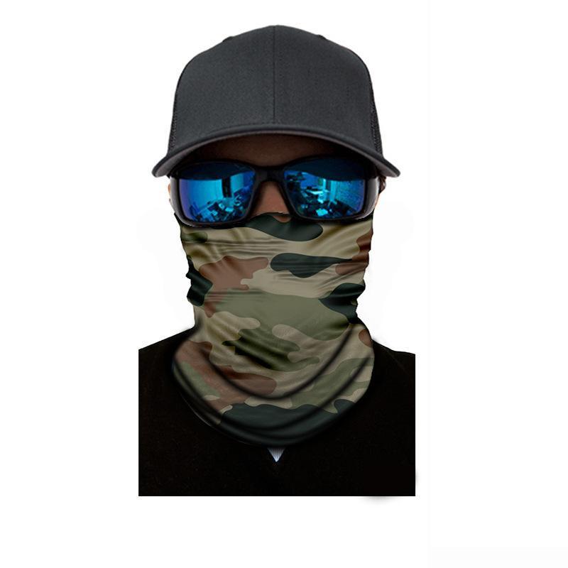Волшебный шарф печатный шеи маска открытый боевой камуфляж CS солнцезащитный крем бесшовные шарф