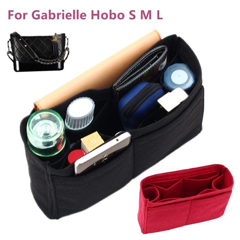 Convient à Gabrielle Hobo Sentier Insert Insert Bag Organisateur Maquillage Sac à main Shaper Organisateur Voyage Porte-monnaie intérieure Sacs cosmétiques portables Y200714
