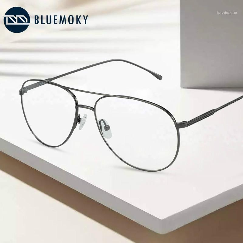 BLUEMOKY PURE TITANIO PILOTA Occhiali da vetri telaio per uomo Oversize Ottico Occhiali da vista Occhiali Occhiali da vista Occhiali da vista Occhiali da vista Cornice1