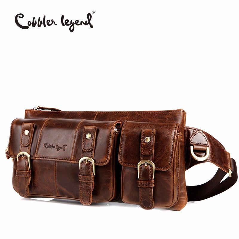 Cobbler Legende Echtes Leder Taille Packungen Fanny Pack Tasche Reise Taille Pack Männliche Kleine Taille Tasche Ledertasche Handy Pouch Taschen