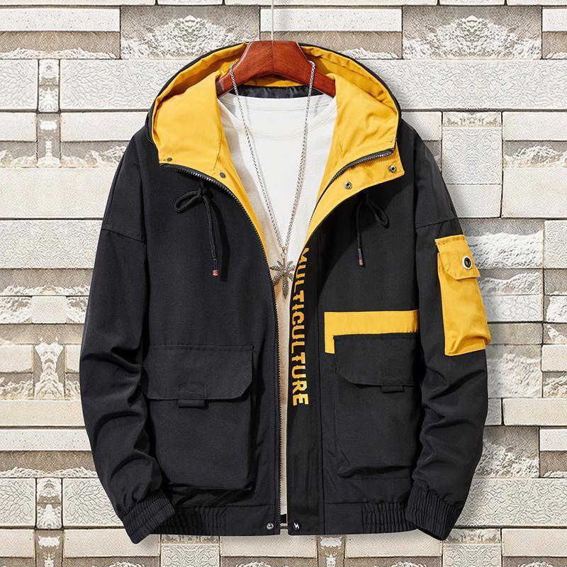 Zity Tiepus Plus Size 5xl ,6xl ,7xl ,8xl Men Hooded Fashion Air Force Men's Thin Hip Hop Outerwear Casual Jacket