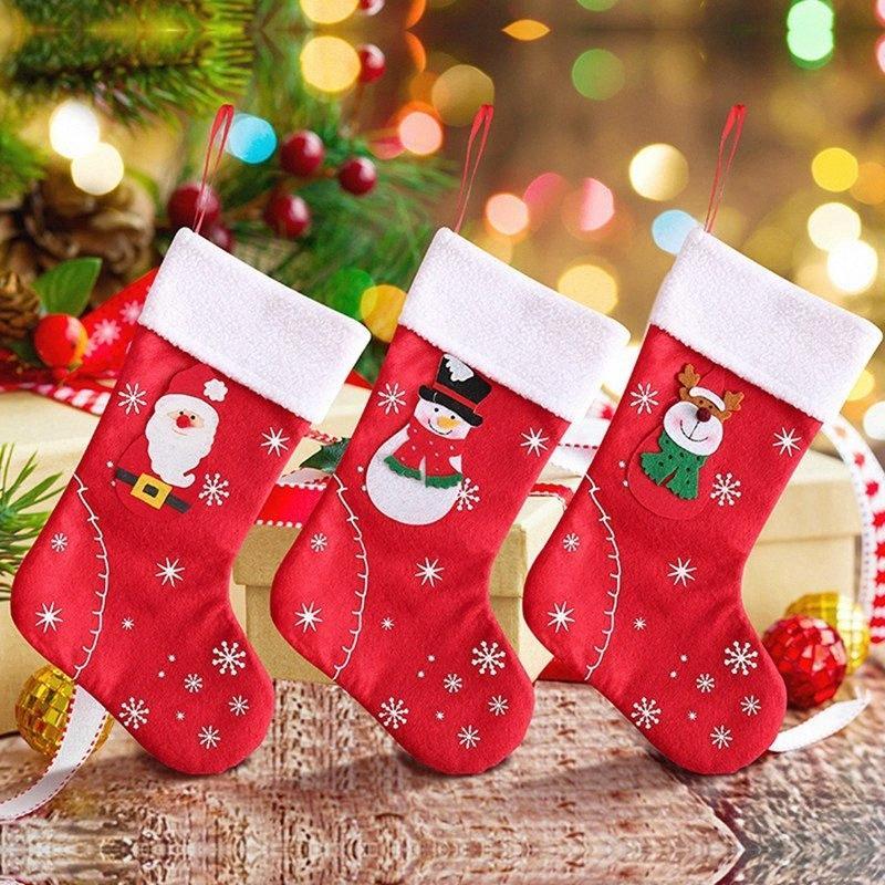 Geschenk-Beutel-Weihnachtsstrumpf-hängende Verzierung Seil Beweglicher netter Süßigkeit-Beutel Festliche Party Supplies Weihnachtsgeschenk Holders j9Ht #