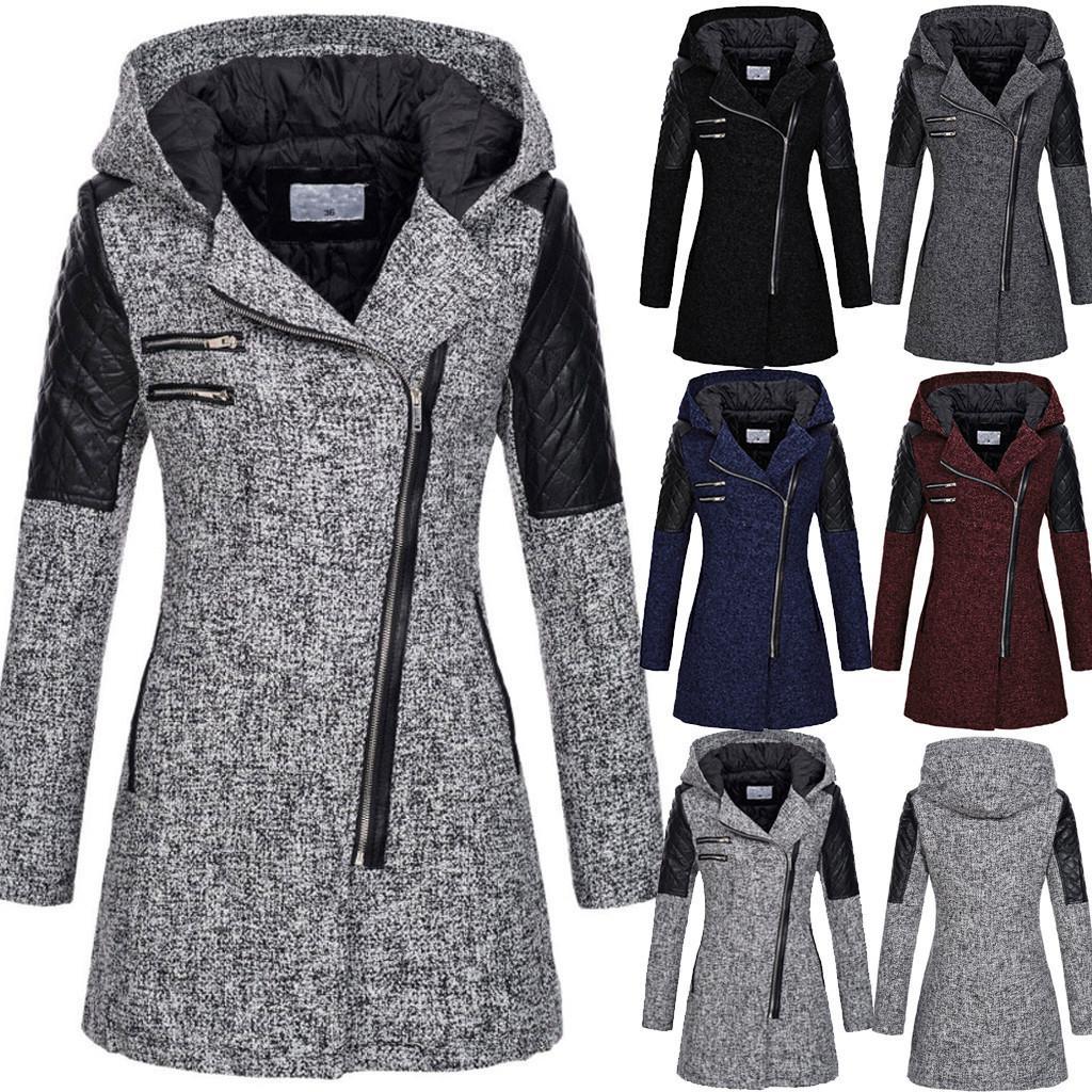 abrigo de invierno las mujeres chaqueta delgada caliente grueso abrigo de invierno Outwear la cremallera Escudo manteau femme abrigo mujerX1018 alta calidad