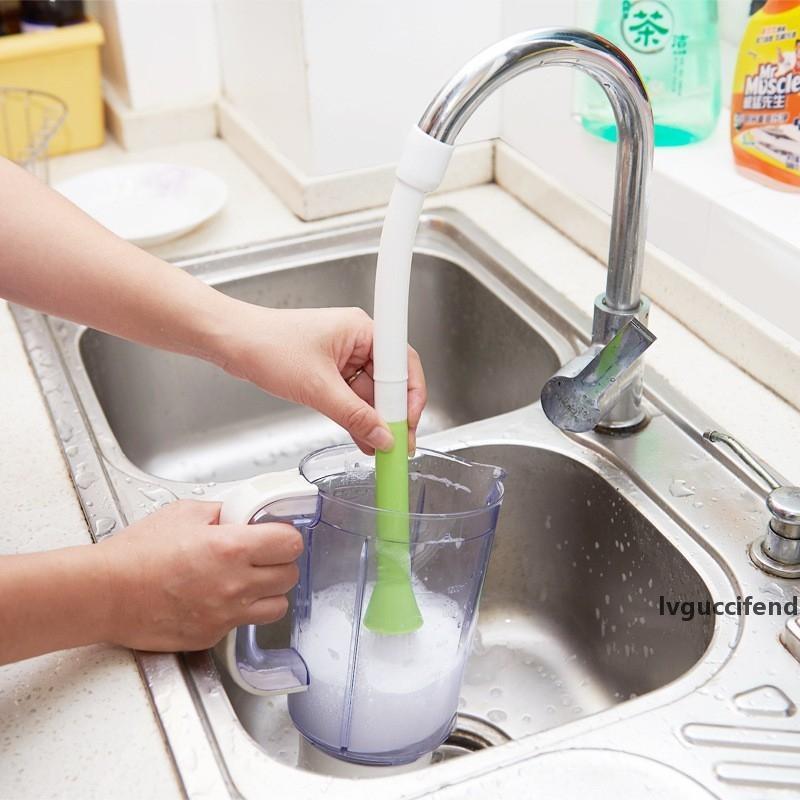 Küchen-Mehrzweck-Wasserhahn Clean Pinsel-Obst- und Gemüsebürste 360 Grad können Küchenreinigungswerkzeuge rotieren LZ1781