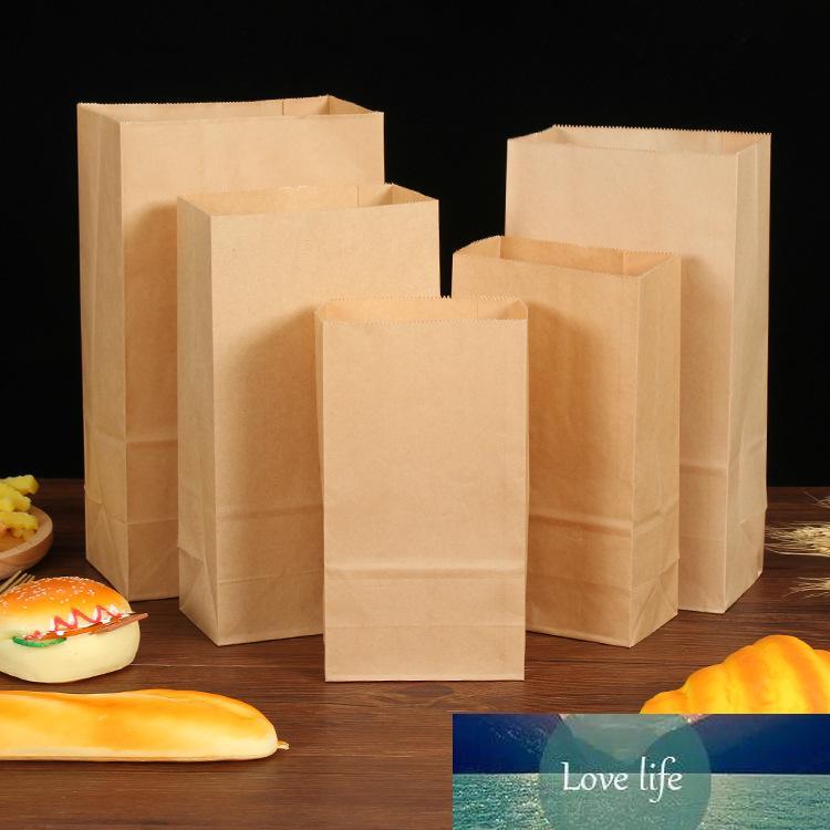 Packpapierbeutel Geschenk-Food-Sandwich Backen Hochzeit liefert Verpackungsbeutel recycelbar Mitnehmen Tasche