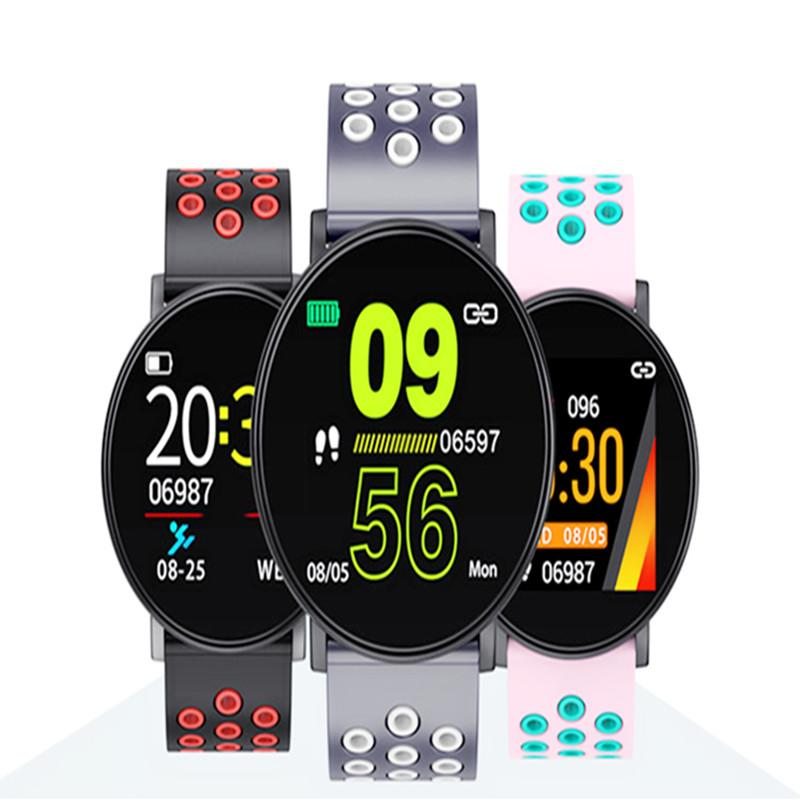 New Sport Smart Watch W8 Wristbands HeartRate Sleep Monitor Tracker BloodPressure Sedentary Call Message Reminder Bracelet for Kids Android Cellphone Wholesale.