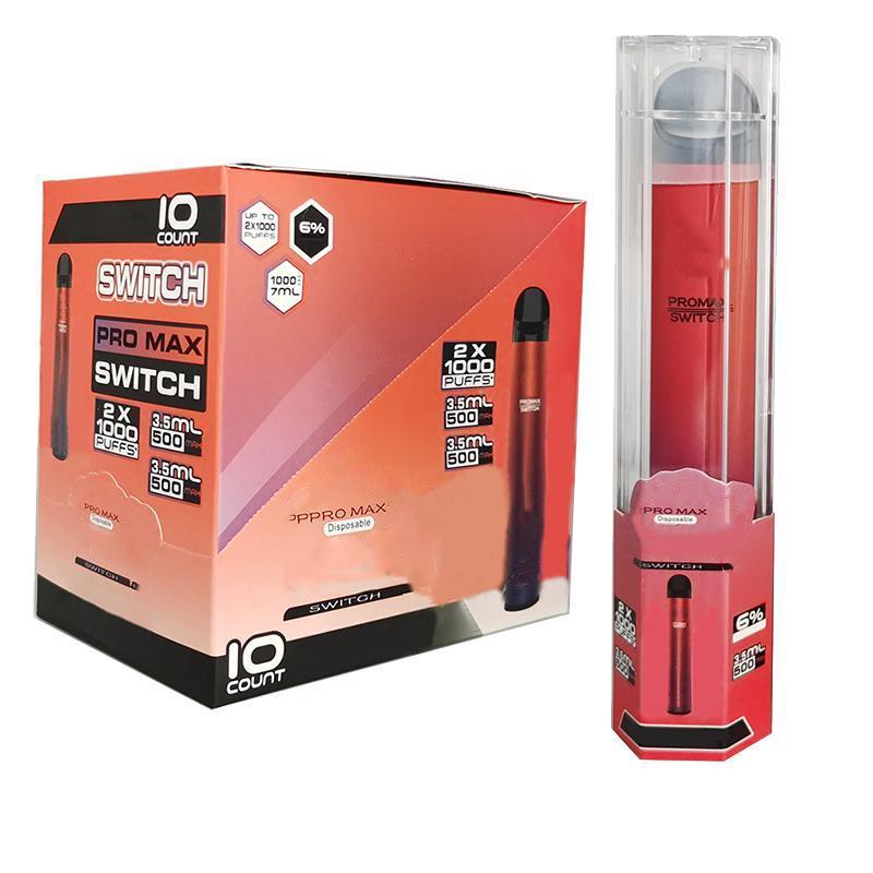 Fabrikpreis Bang Pro Max Colors XXL VS 2000Puffs Batterie 7.0ml Switch Oil 1000mAh Vape 5 Vorgefüllt Bang Einweg Pen BCOAI