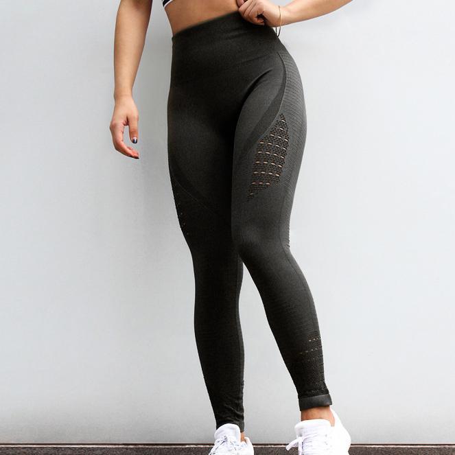 Jellpe Womens Sportswear Stretchy Fitness Leggings Running Sports Yoga Calças Sem Costura Controle de Barriga de Ginásio Compressão Calças
