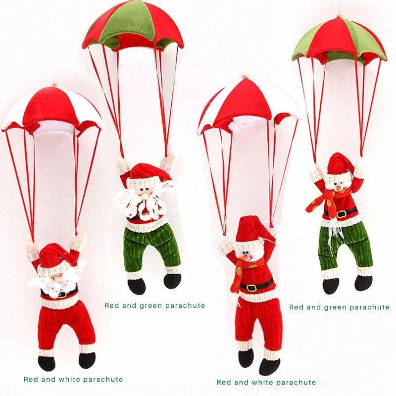 Weihnachten Deckenverzierung Parachute Sankt-Schneemann-Anhänger Weihnachten Weihnachtsbaum Hängen Navidad Dekorationen für Haus Neujahr nDg8 #