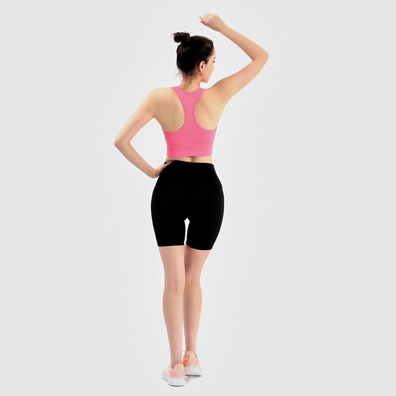 2021 Push Up Gym Fitness Bras Crop Tops Женщины Простые мягкие нейлоновые йоги тренировки спортивные бюстгальтеры