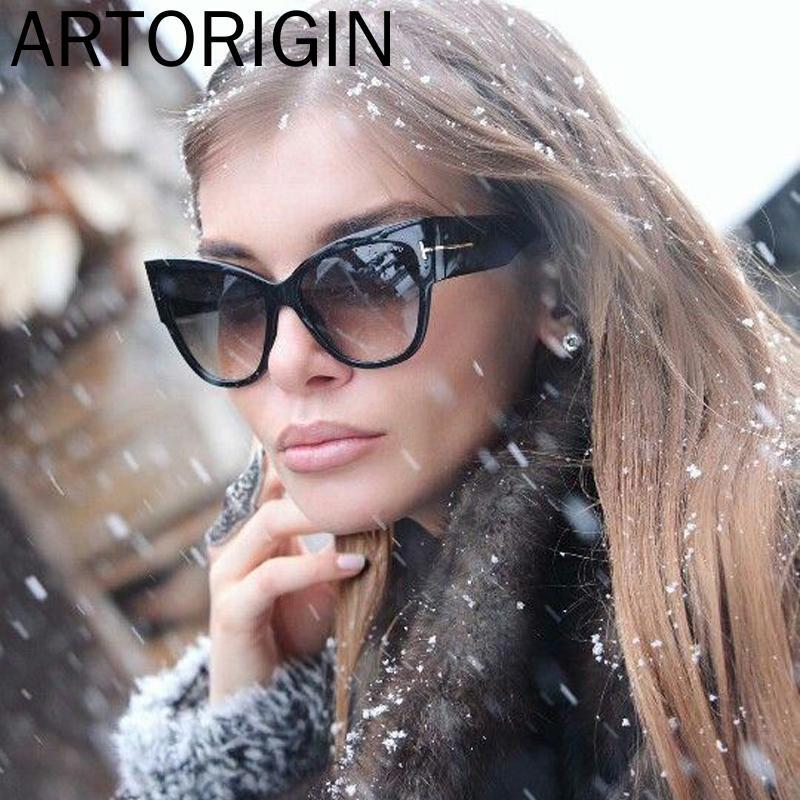 T689 T Metallo Cat Eye oculos NUOVE DONNE Femmina 2020 Designer Glasses Occhiali da sole sovradimensionati Sun IVMRM