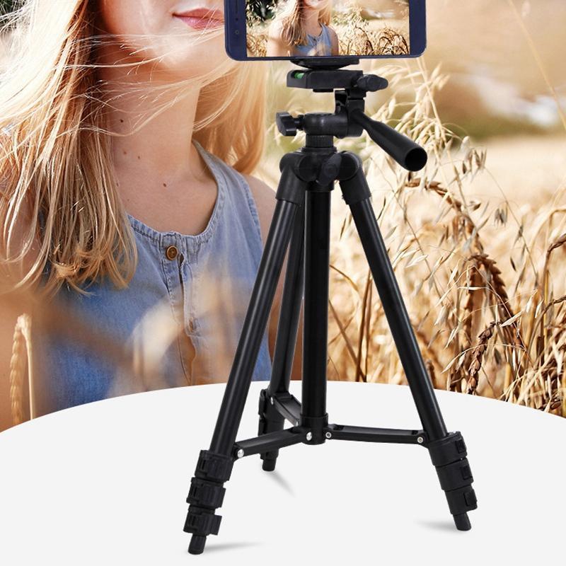 Камера штатив 40 дюймов / 100 см легкий живой потоковой штатив с держателем телефона и сумкой для камеры телефон Max Load 2 кг