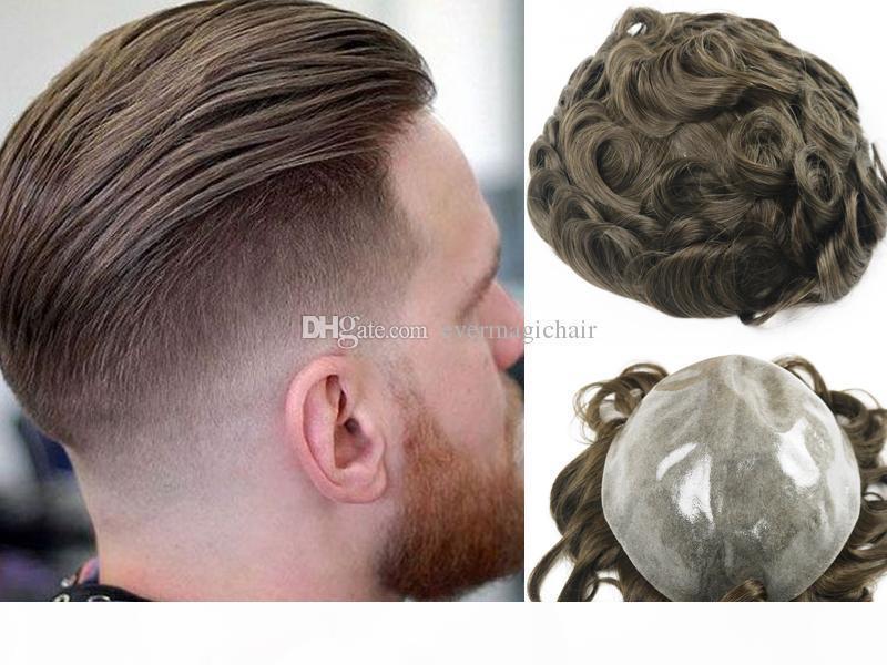 Hot vente Brown # 4 Couleur Toupets silicone Dentelle postiches brésilienne Vierge humaine remplacement des cheveux